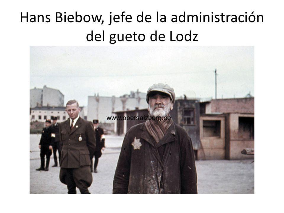 Trabajadores judíos del gueto de Lodz