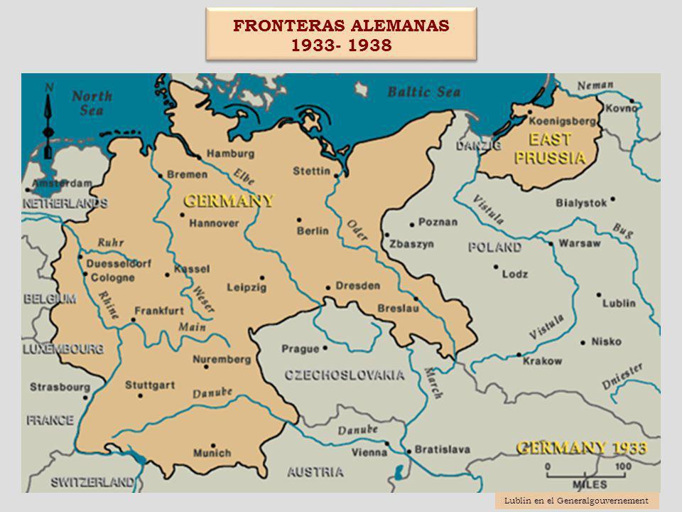 Movimientos de expulsión de Oeste a Este (Otoño de 1939-otoño de 1941) Movimientos de expulsión de Oeste a Este (Otoño de 1939-otoño de 1941) 3) Judíos y gitanos del Reich- Protektorak a los territorios incorporados 3 1) Judíos y polacos de los territorios incorporados al GG 1 2) Judíos y gitanos del Reich- Protektorak al GG 2 Lublin en el Generalgouvernement CONCLUSIÓN : El período de 1939 a 1941 supuso una transición del programa de emigración forzada a la política de solución final