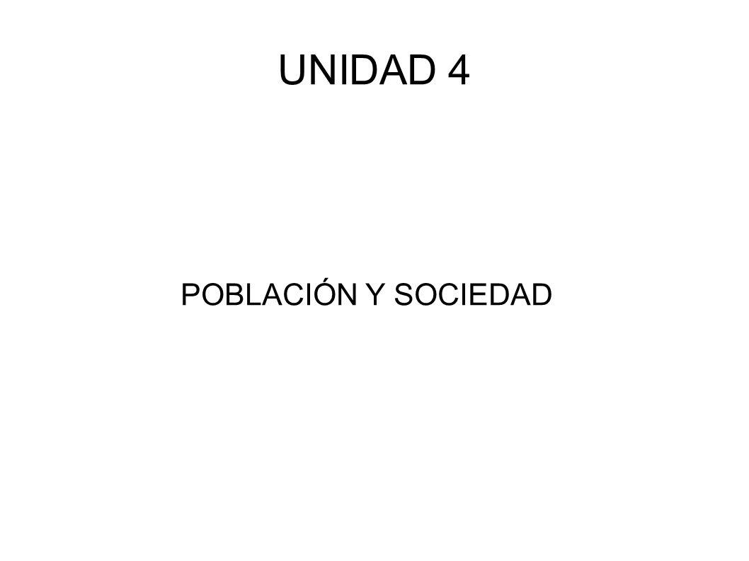 UNIDAD 4 POBLACIÓN Y SOCIEDAD