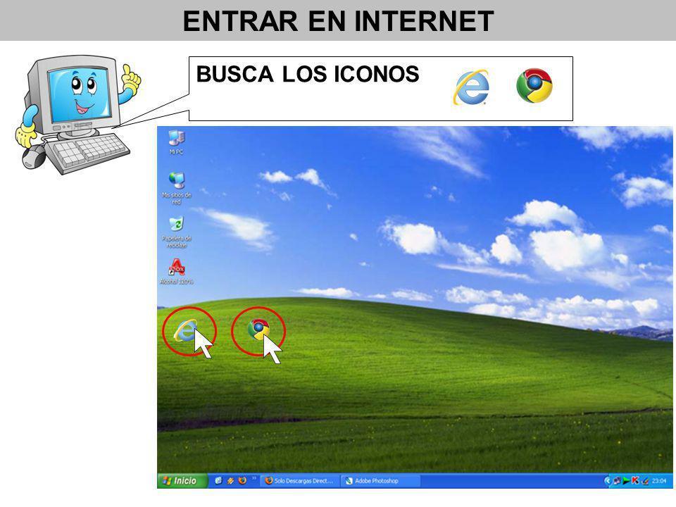 BUSCA LOS ICONOS ENTRAR EN INTERNET