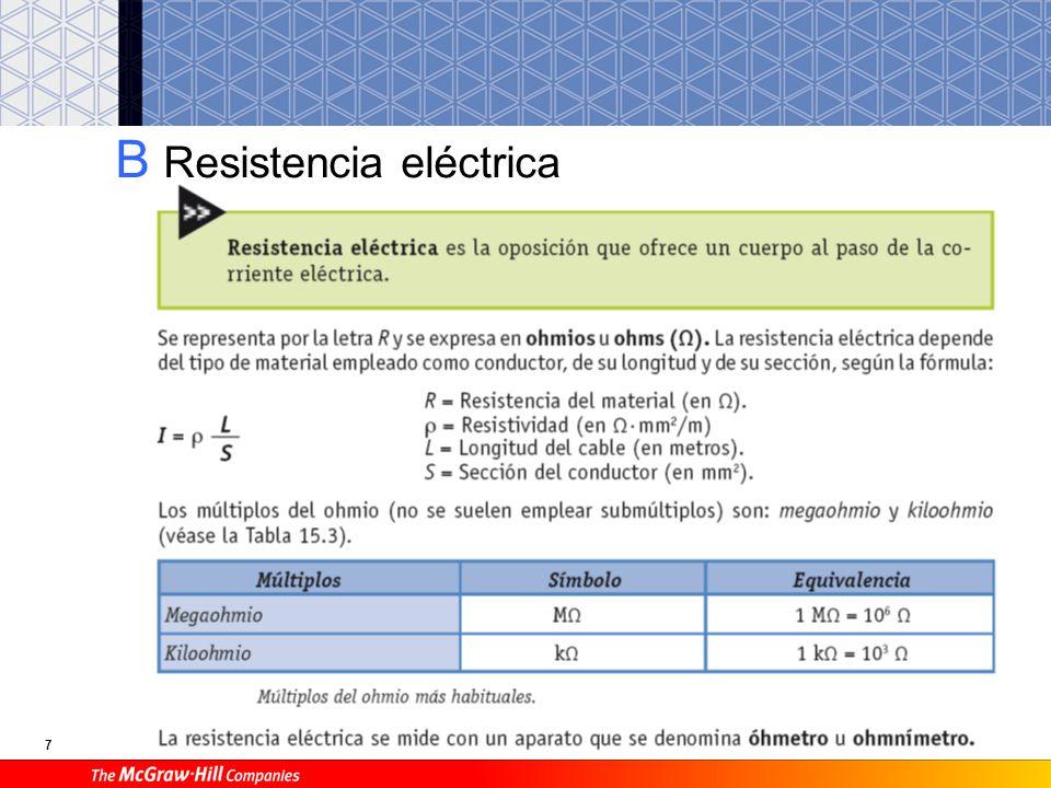 7 B Resistencia eléctrica