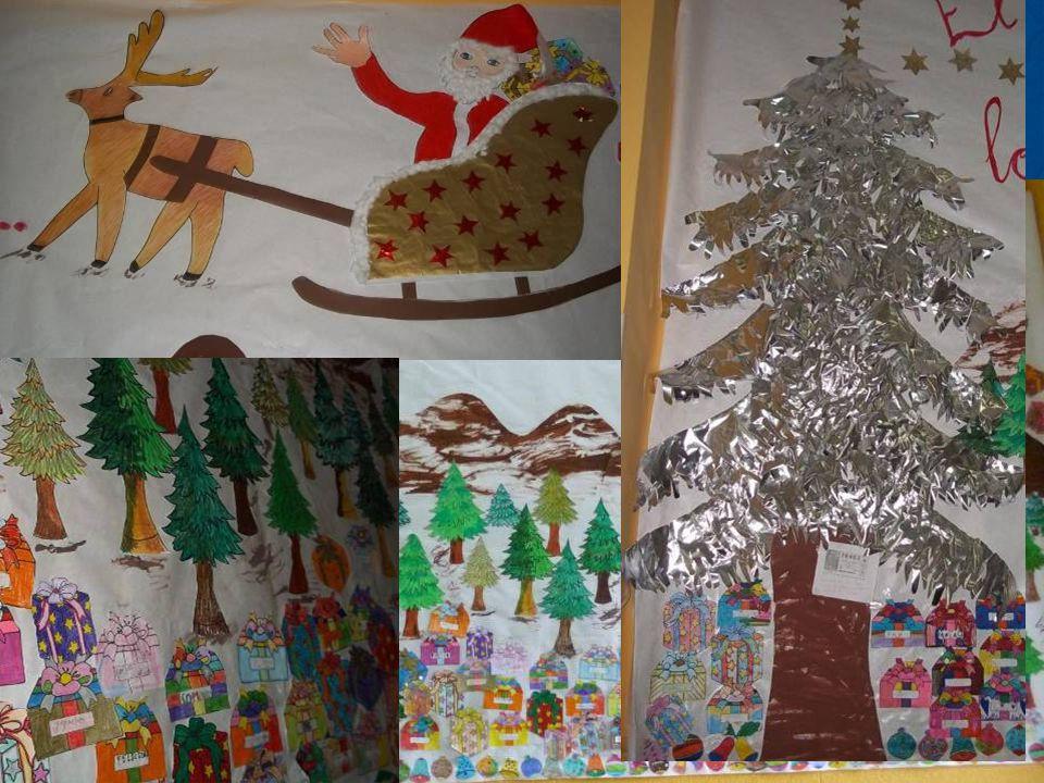 Alumnos y alumnas de Educación Infantil Creaciones para la Navidad de los