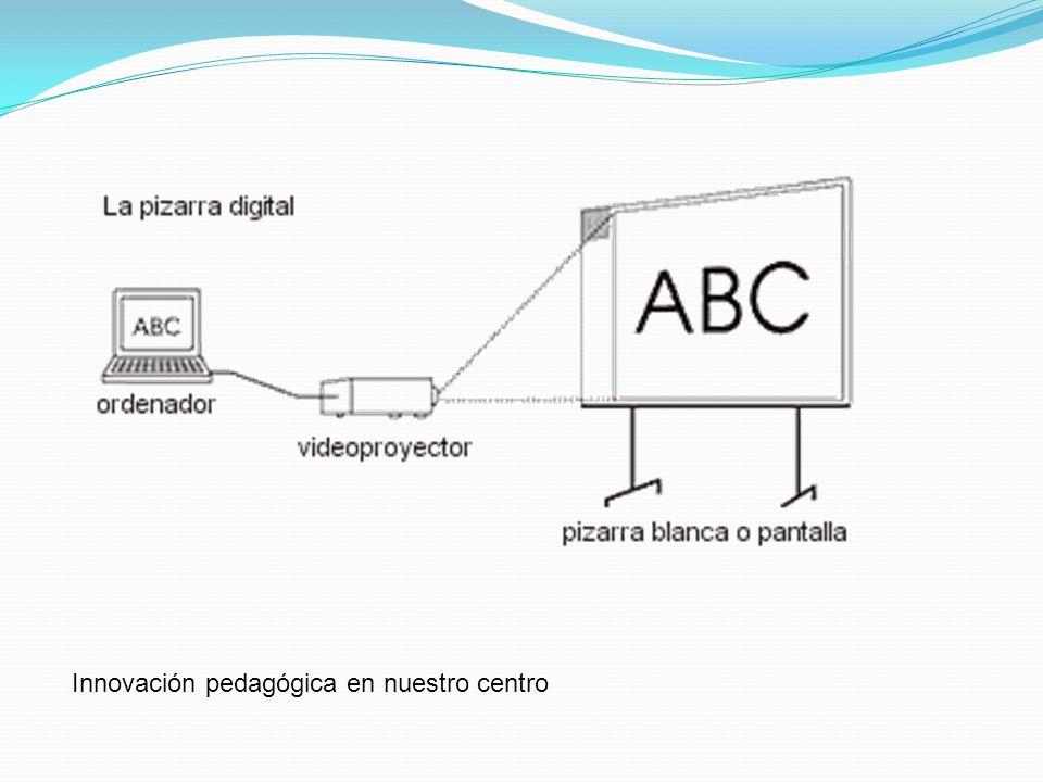pizarra digital Sistema tecnológico que consiste en un ordenador multimedia conectado a Internet y un videoproyector que proyecta a gran tamaño sobre