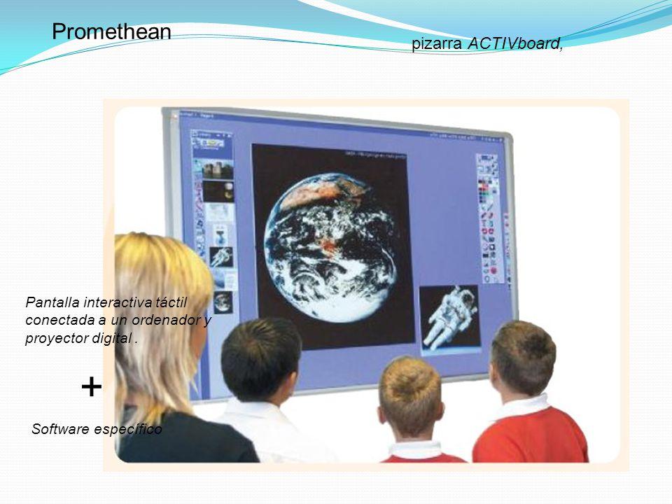 Pizarra digital Interwrite Pantalla interactiva táctil conectada a un ordenador y proyector digital. + Software específico