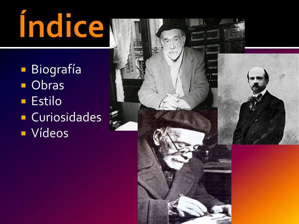 Biografía Obras Estilo Curiosidades Vídeos