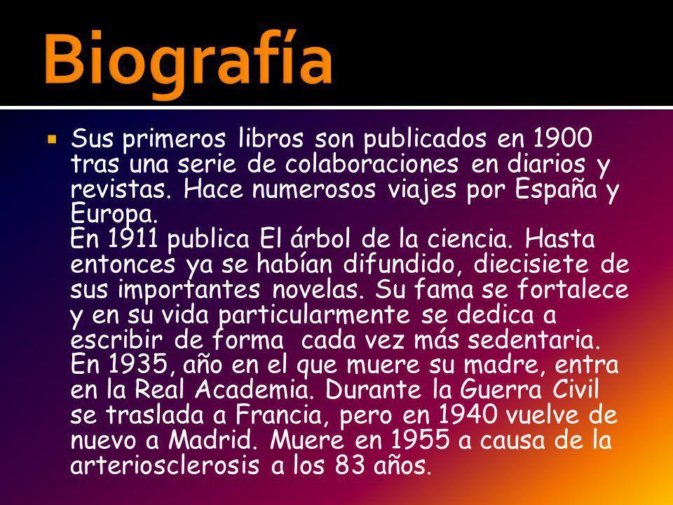 www.rinconcastellano.com/sigloxx/baroja.ht ml www.rinconcastellano.com/sigloxx/baroja.ht ml http://anderedelgado.wordpress.com/2007/0 1/18/caracteristicas-del-estilo-de-pio-baroja/ http://anderedelgado.wordpress.com/2007/0 1/18/caracteristicas-del-estilo-de-pio-baroja/ Libro de lengua castellana y literatura.