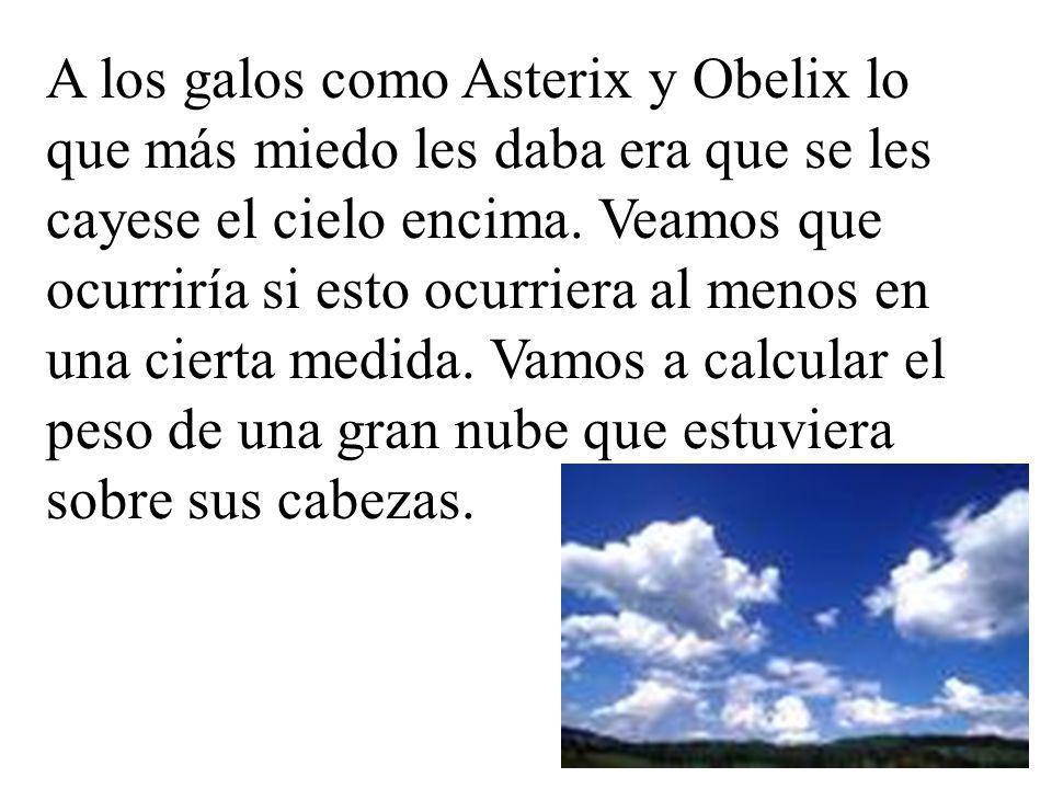 Para que una nube sea visible, es decir la humedad ambiente sea suficientemente alta como para que a simple vista se vea la nube, a de cumplirse que por cada metro cúbico de aire haya al menos 1 litro de agua.