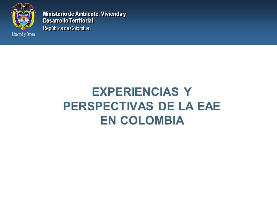 Ministerio de Ambiente, Vivienda y Desarrollo Territorial República de Colombia Ministerio de Ambiente, Vivienda y Desarrollo Territorial República de Colombia ζ CONCLUSIONES
