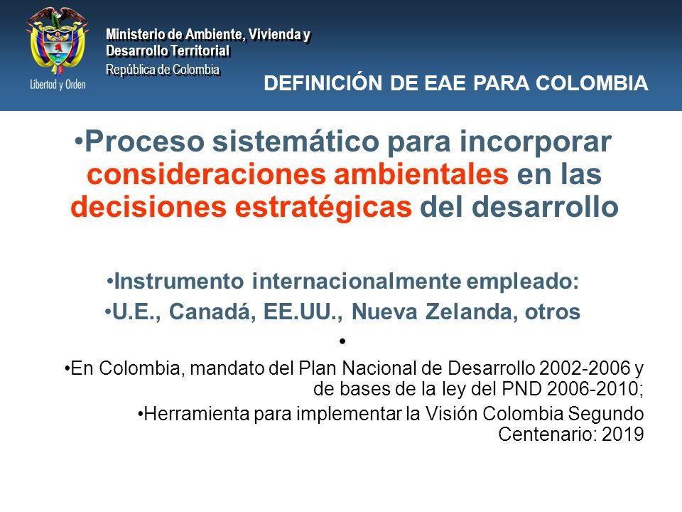 Ministerio de Ambiente, Vivienda y Desarrollo Territorial República de Colombia Ministerio de Ambiente, Vivienda y Desarrollo Territorial República de Colombia IB IDENTIFICACION DE CRITERIO PROCEDIMENTAL Sustentabilidad Ambiental Transparencia en la Información Decisiones soportadas con Bases Técnicas y Científicas EAE de Energéticos Identificación de criterio procedimental
