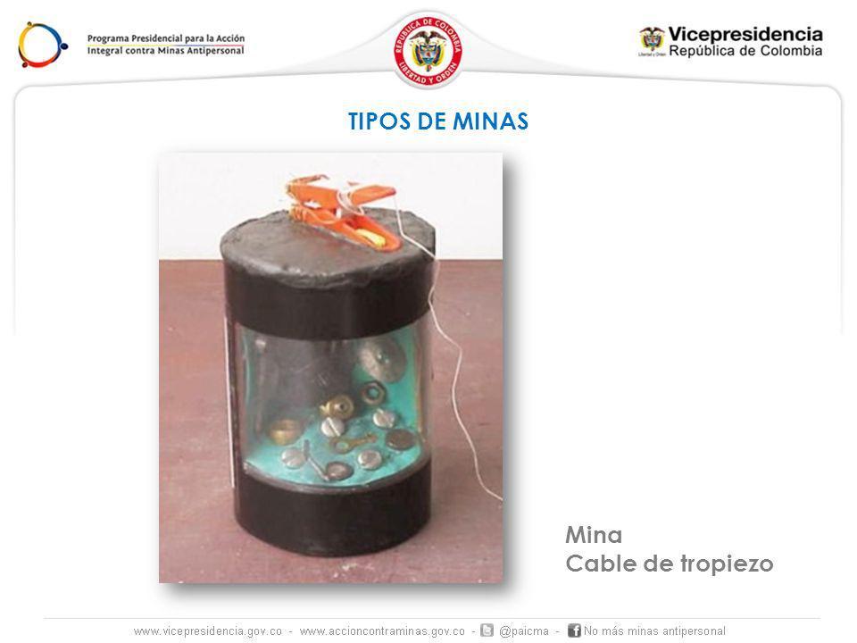 TIPOS DE MINAS Mina Cable de tropiezo