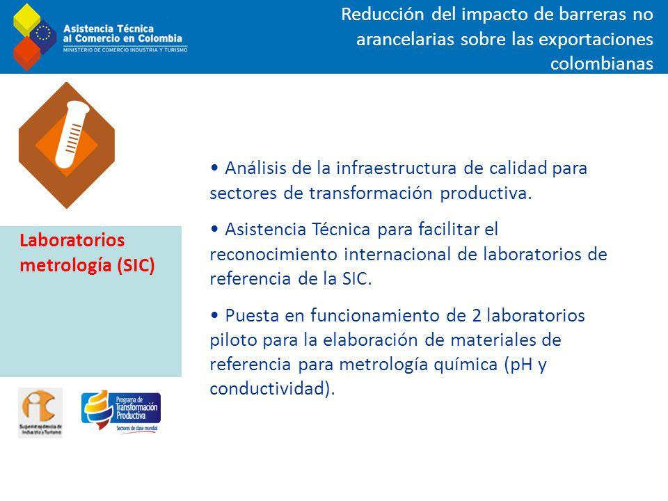 Reducción del impacto de barreras no arancelarias sobre las exportaciones colombianas Análisis de la infraestructura de calidad para sectores de trans