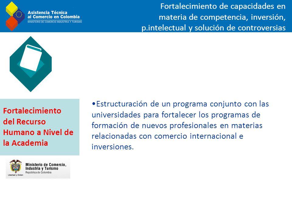 Estructuración de un programa conjunto con las universidades para fortalecer los programas de formación de nuevos profesionales en materias relacionad