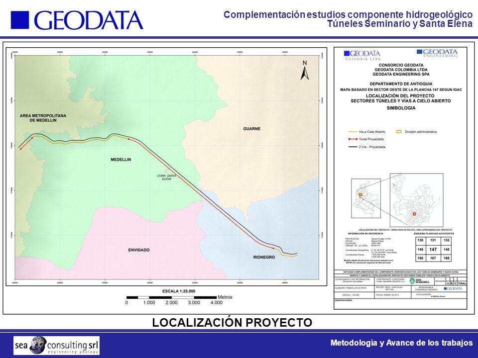 Complementación estudios componente hidrogeológico Túneles Seminario y Santa Elena Metodología y Avance de los trabajos CRONOGRAMA GENERAL FASE 1 FASE 2 FASE 3