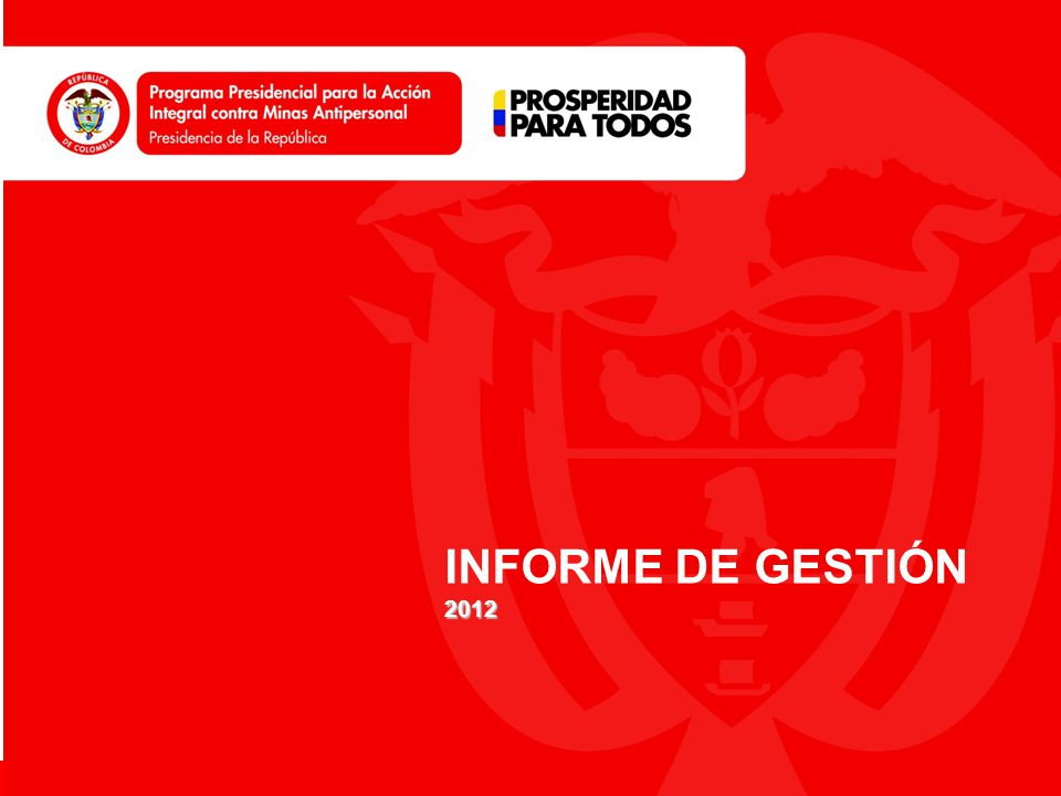 www.accioncontraminas.gov.co INFORME DE GESTIÓN2012
