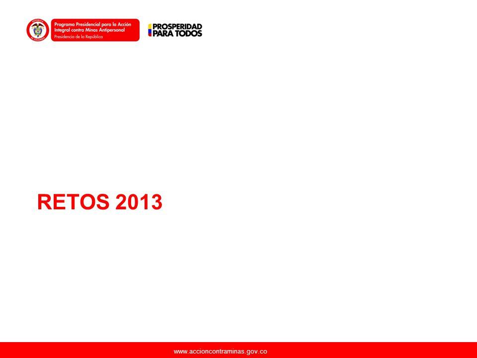 www.accioncontraminas.gov.co RETOS 2013