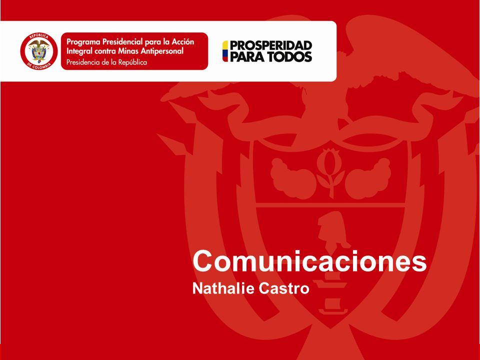 www.accioncontraminas.gov.co Comunicaciones Nathalie Castro
