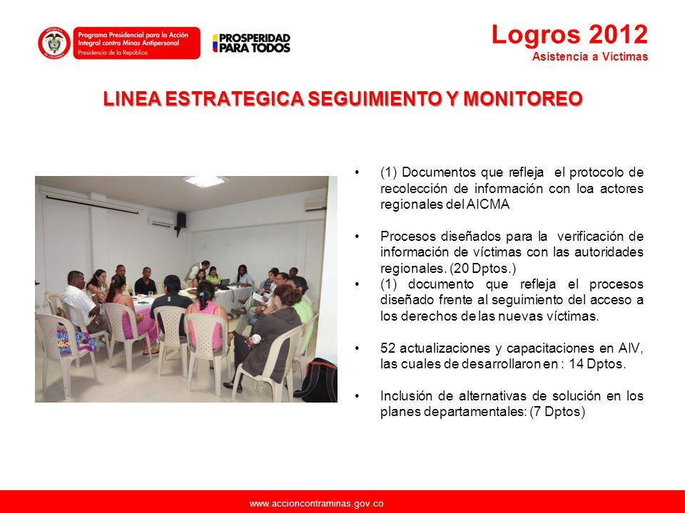 www.accioncontraminas.gov.co LINEA ESTRATEGICA SEGUIMIENTO Y MONITOREO (1) Documentos que refleja el protocolo de recolección de información con loa a