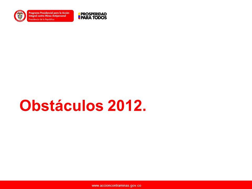www.accioncontraminas.gov.co Obstáculos 2012.
