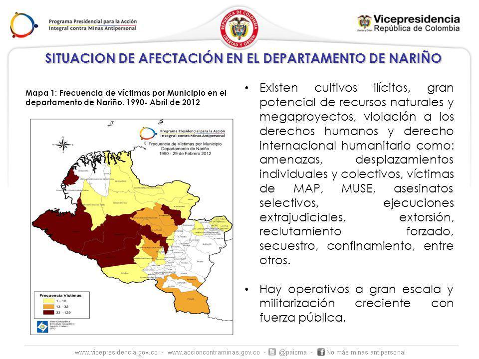Existen cultivos ilícitos, gran potencial de recursos naturales y megaproyectos, violación a los derechos humanos y derecho internacional humanitario