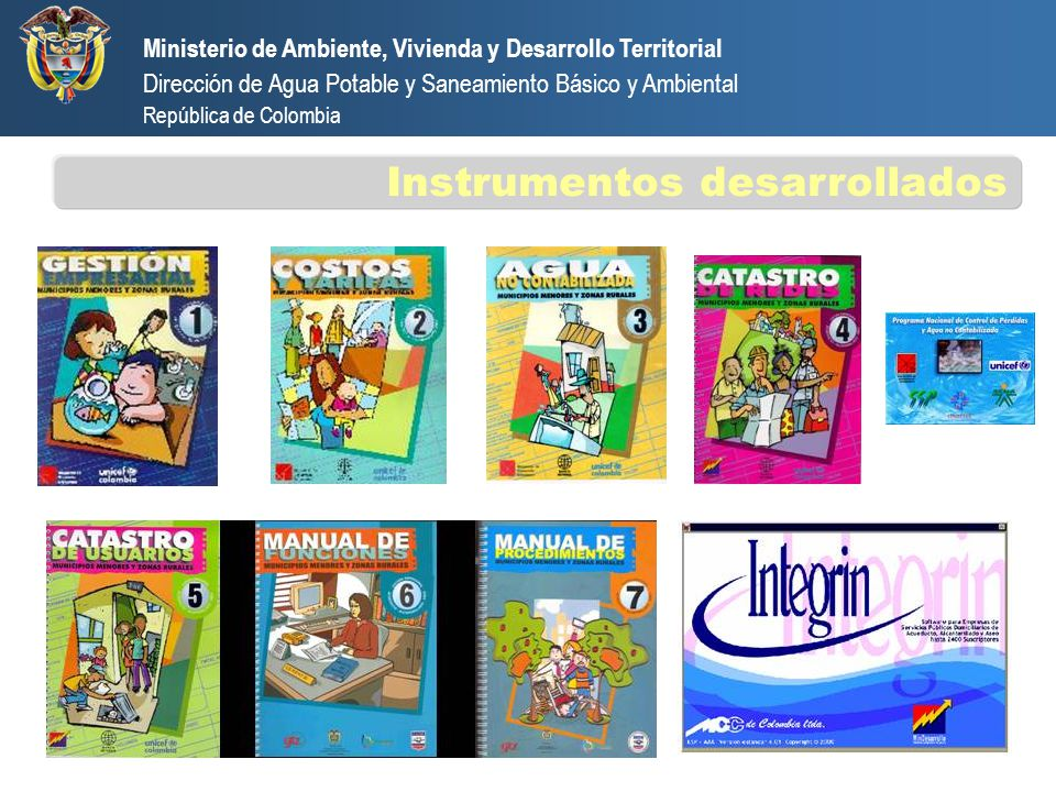 Ministerio de Ambiente, Vivienda y Desarrollo Territorial Dirección de Agua Potable y Saneamiento Básico y Ambiental República de Colombia Instrumento