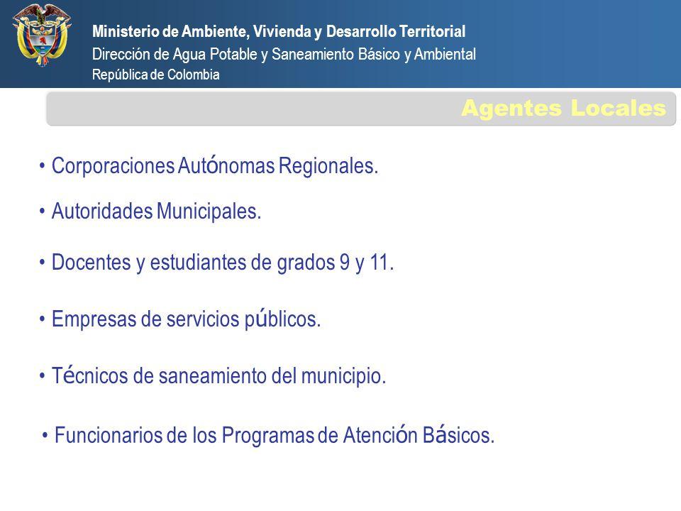 Ministerio de Ambiente, Vivienda y Desarrollo Territorial Dirección de Agua Potable y Saneamiento Básico y Ambiental República de Colombia Funcionario