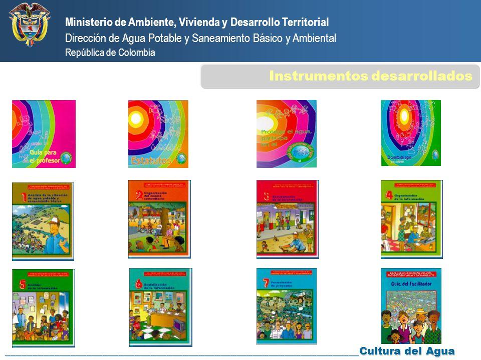 Ministerio de Ambiente, Vivienda y Desarrollo Territorial Dirección de Agua Potable y Saneamiento Básico y Ambiental República de Colombia ___________