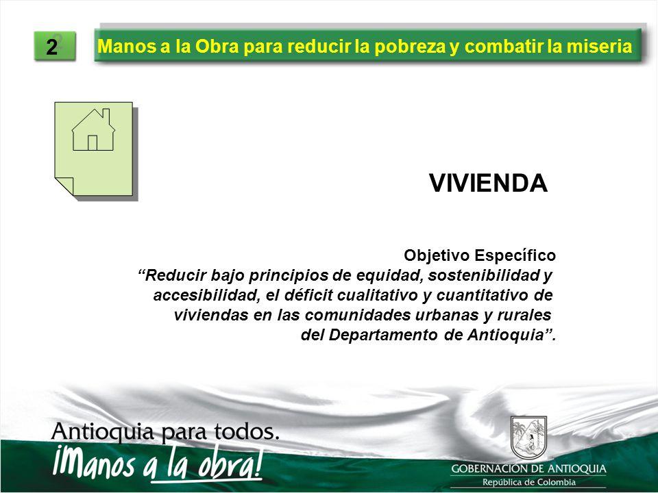 Manos a la Obra para reducir la pobreza y combatir la miseria 2 2 Objetivo Específico Reducir bajo principios de equidad, sostenibilidad y accesibilid