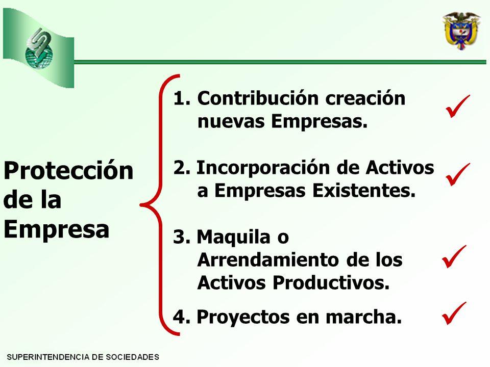 Protección de la Empresa 1.Contribución creación nuevas Empresas.