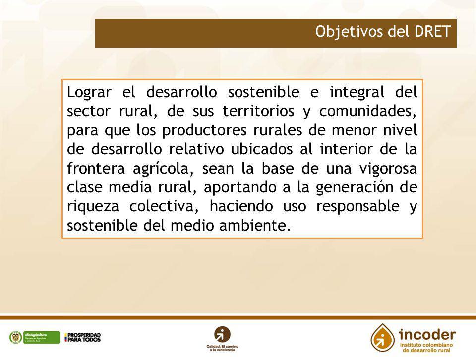 Lograr el desarrollo sostenible e integral del sector rural, de sus territorios y comunidades, para que los productores rurales de menor nivel de desa