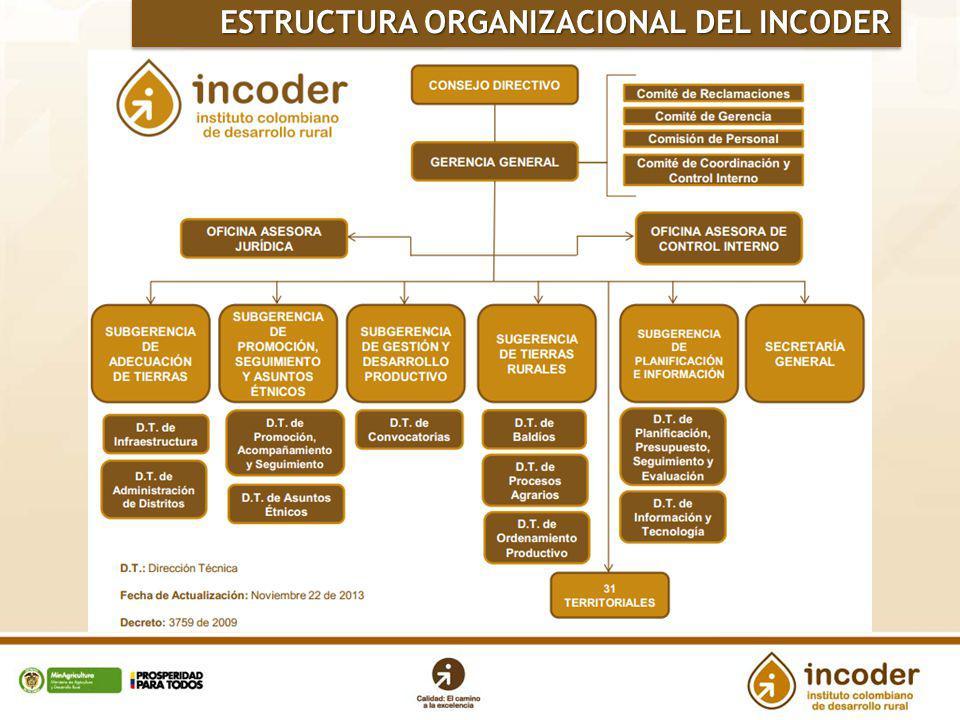 ESTRUCTURA ORGANIZACIONAL DEL INCODER