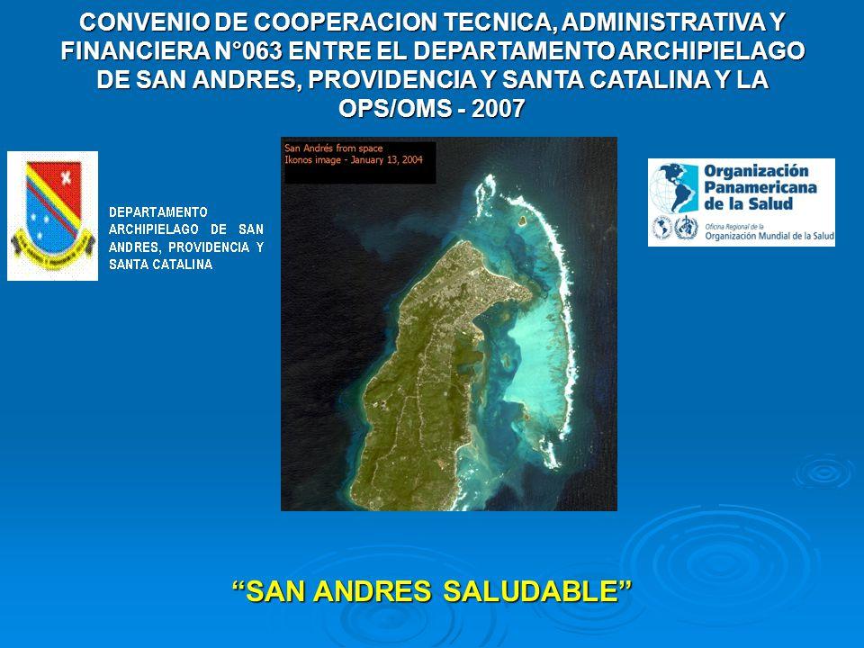 . SAN ANDRES SALUDABLE CONVENIO DE COOPERACION TECNICA, ADMINISTRATIVA Y FINANCIERA N°063 ENTRE EL DEPARTAMENTO ARCHIPIELAGO DE SAN ANDRES, PROVIDENCI