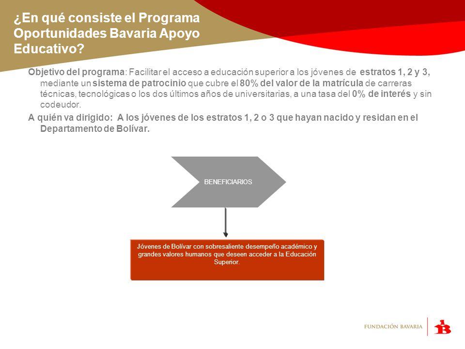 Requisitos del programa Para todos los participantes: Estar en sexto o undécimo grado o ser bachiller.