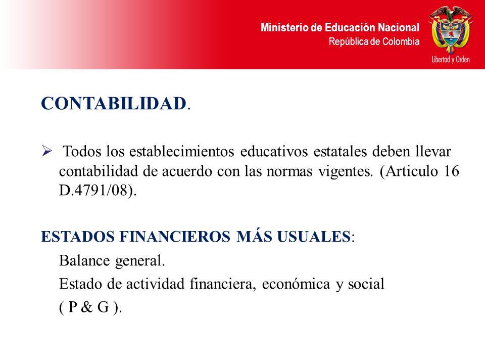 Ministerio de Educación Nacional República de Colombia MODIFICACIONES PRESUPUESTALES Deben ser aprobadas mediante acuerdo del Consejo Directivo. En es