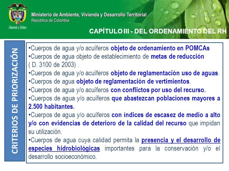 CAPITULO IX - REGLAMENTACIÓN DE VERTIMIENTOS Visita Técnica y Proyecto Reglamentación de Vertimientos (Art.