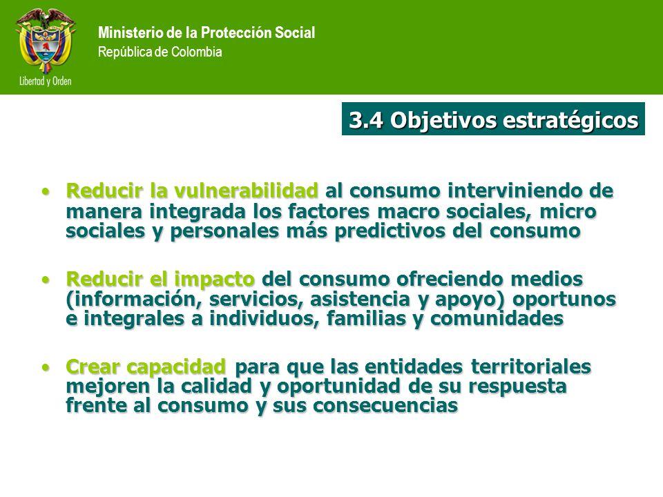 Reducir la vulnerabilidad al consumointerviniendo de manera integrada los factores macro sociales, micro sociales y personales más predictivos del con