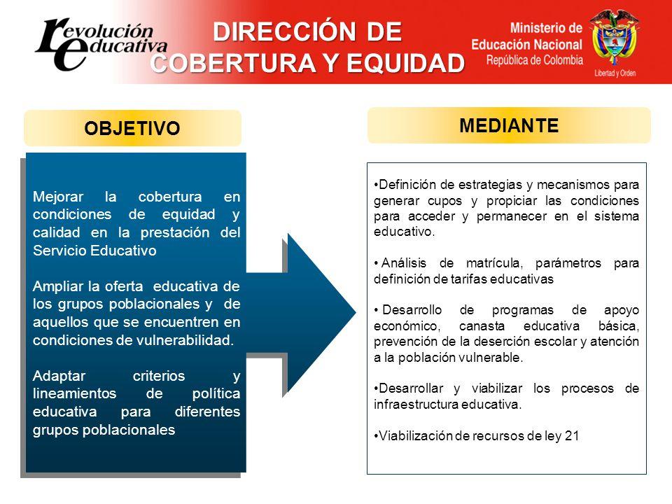 Definición de estrategias y mecanismos para generar cupos y propiciar las condiciones para acceder y permanecer en el sistema educativo. Análisis de m