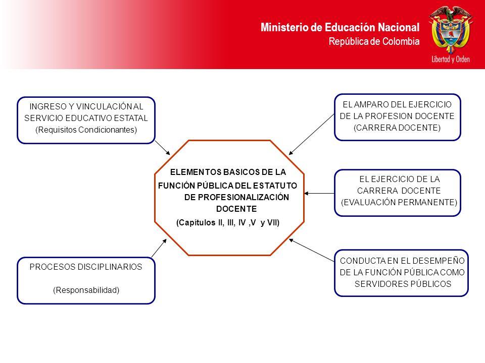 funcion ministerio educacion: