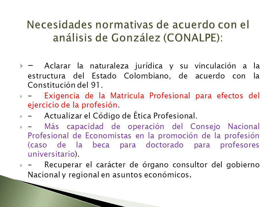 - Aclarar la naturaleza jurídica y su vinculación a la estructura del Estado Colombiano, de acuerdo con la Constitución del 91. -Exigencia de la Matri