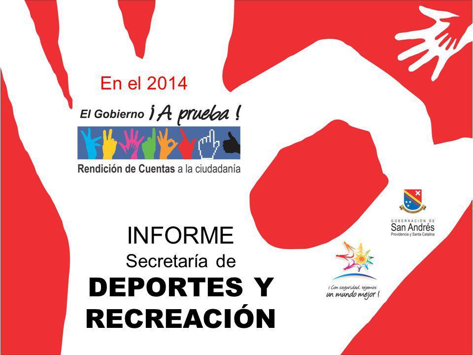 INFORME Secretaría de DEPORTES Y RECREACIÓN En el 2014