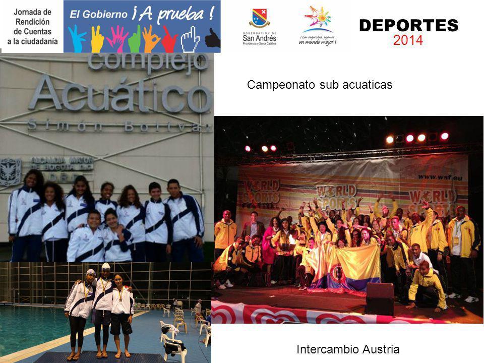 Intercambio Austria Campeón Nacional sub 17 Campeonato sub acuaticas DEPORTES 2014