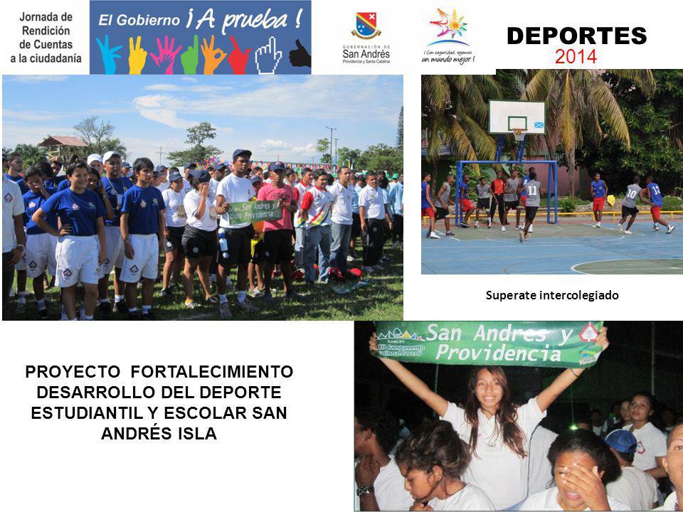 Superate intercolegiado DEPORTES 2014 PROYECTO FORTALECIMIENTO DESARROLLO DEL DEPORTE ESTUDIANTIL Y ESCOLAR SAN ANDRÉS ISLA