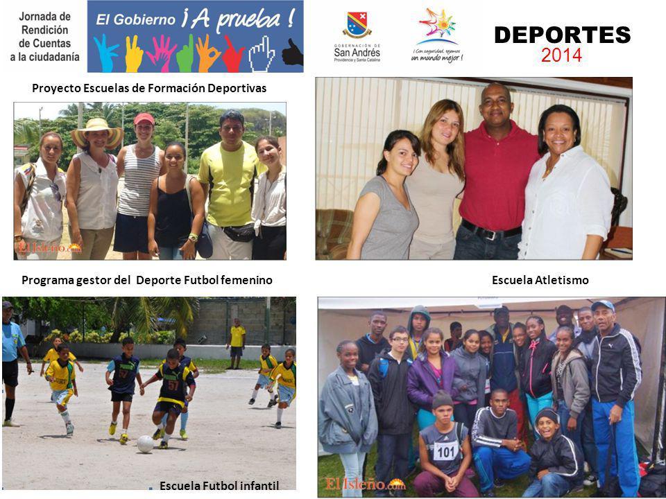 Programa gestor del Deporte Futbol femenino Escuela Atletismo Escuela Futbol infantil DEPORTES 2014 Proyecto Escuelas de Formación Deportivas