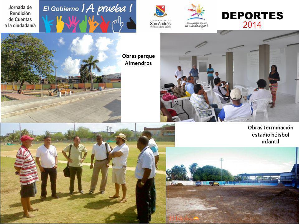 Obras parque Almendros Obras terminación estadio béisbol infantil DEPORTES 2014