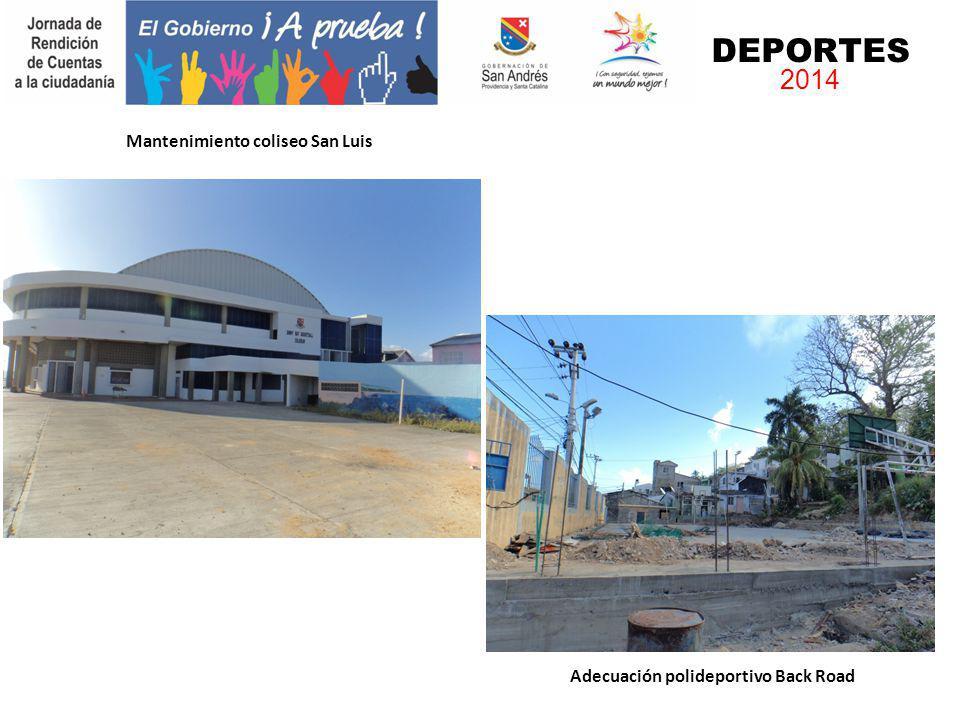 Mantenimiento coliseo San Luis Adecuación polideportivo Back Road DEPORTES 2014