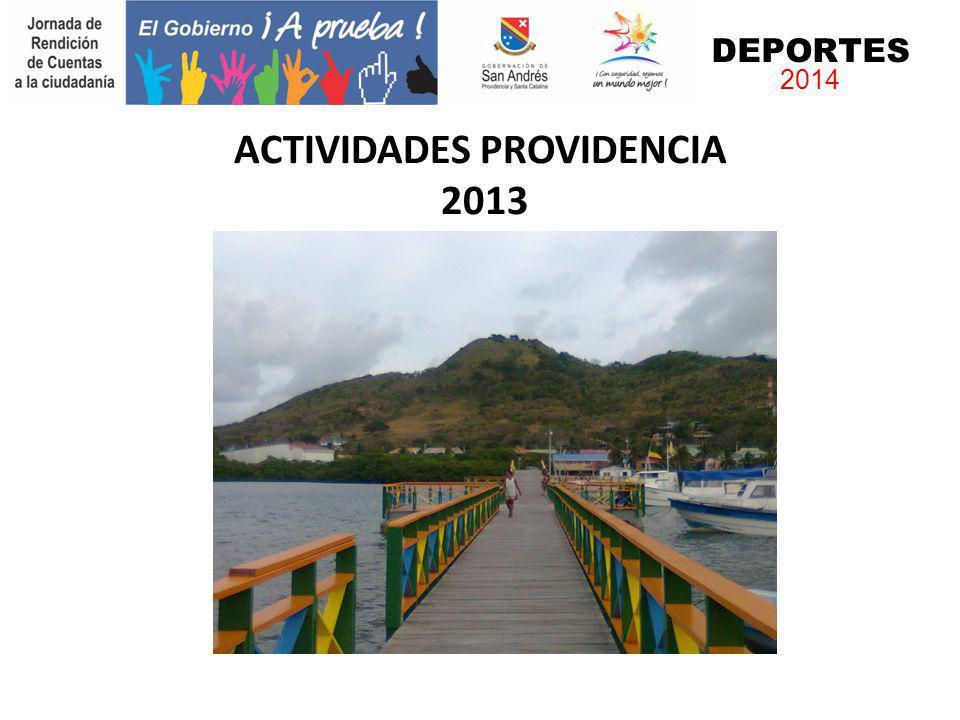 ACTIVIDADES PROVIDENCIA 2013 DEPORTES 2014