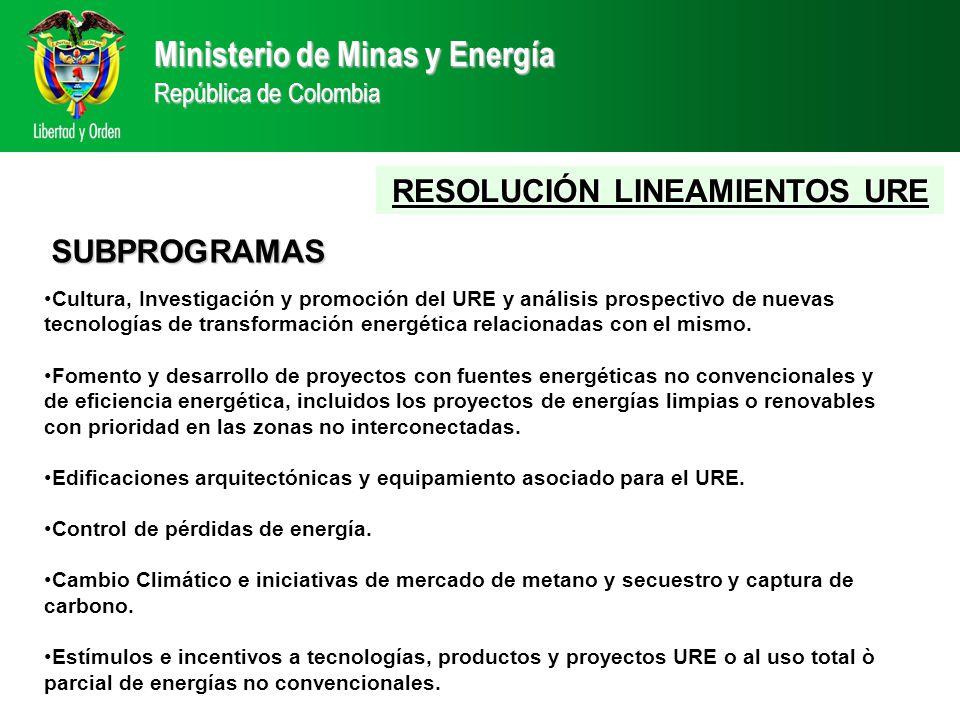 Cultura, Investigación y promoción del URE y análisis prospectivo de nuevas tecnologías de transformación energética relacionadas con el mismo.