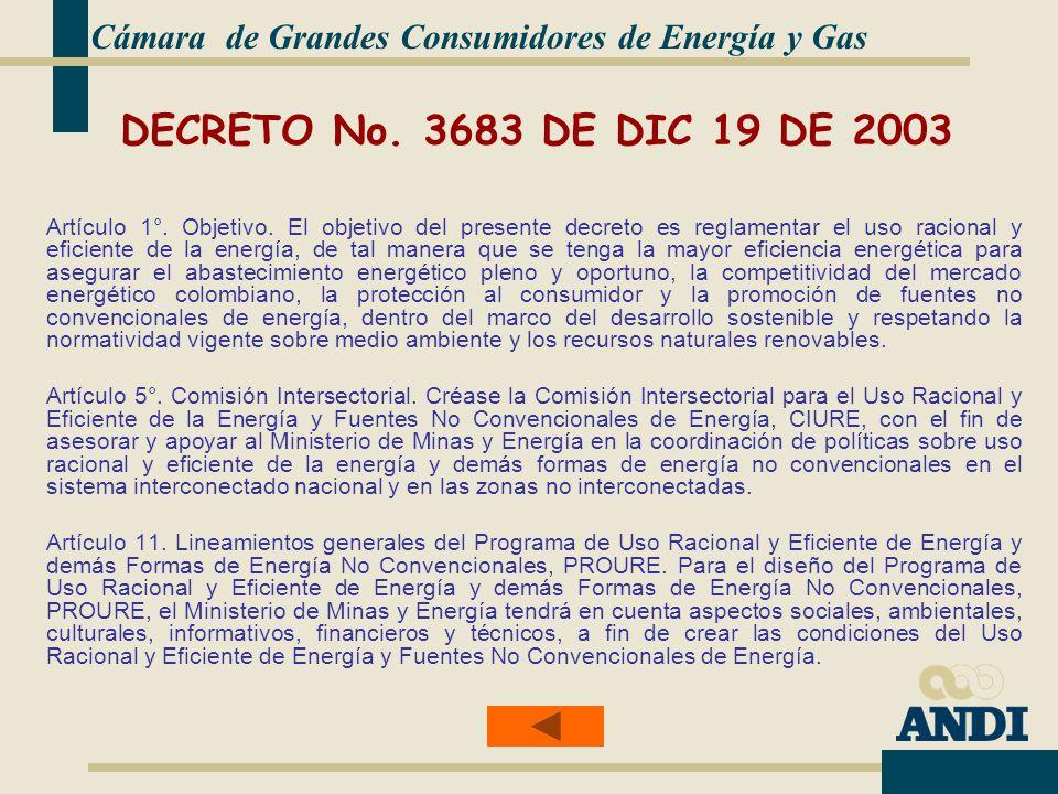 DECRETO No.3683 DE DIC 19 DE 2003 Artículo 1°. Objetivo.
