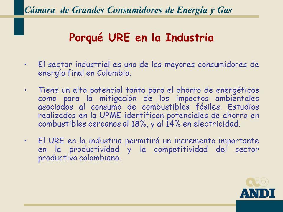 El sector industrial es uno de los mayores consumidores de energía final en Colombia.