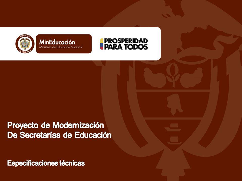 En 2003, cuando inició el proyecto de modernización, se encontró un sector educativo con las siguientes condiciones: Las entidades desarrollaban los procesos que consideraban pertinentes, sin que existiera una articulación de sector.