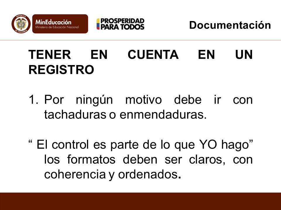 TENER EN CUENTA EN UN REGISTRO 2.